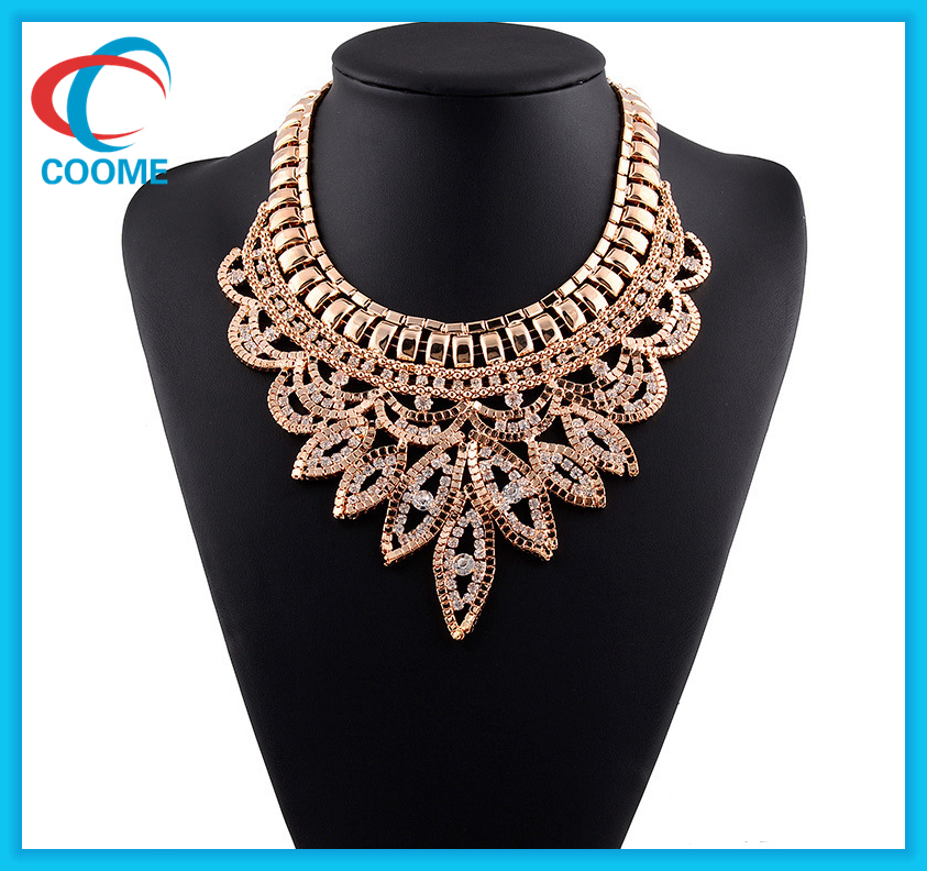 Luxury Claw Chain Crystal Chunky Gold Choker Necklace Designs