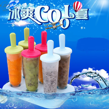 6 PCS Plastic Stick Ice Cream Maker Mold/ Cube Mold With Stick