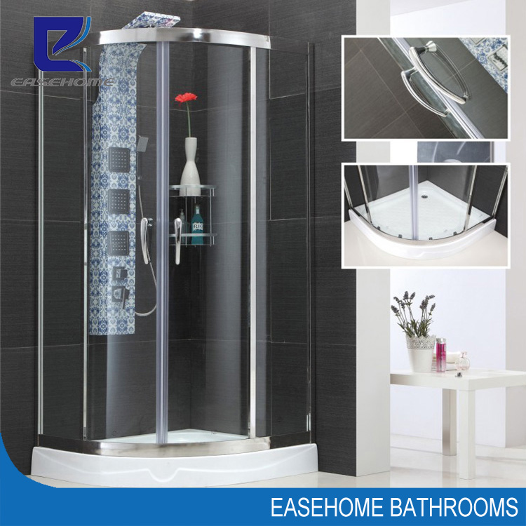 cheap glass shower cubicle sizes