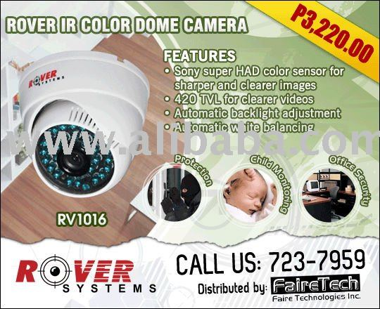 ROVER SYSTEMS IR COLOR DOME CAMERA