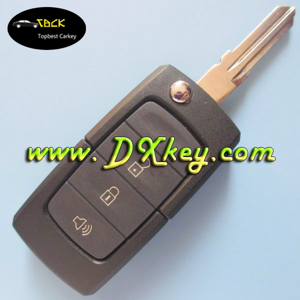 The lowest price car key for ford remote flip key 3 button flip modified remote key shell horn button no logo