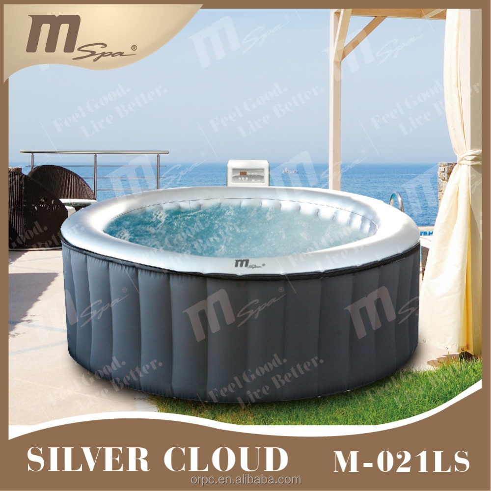 Inflatable portable spa / 4 person hot tub / bubble massage Silver Cloud M-021LS 4 person