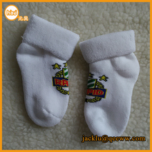 2015 new product manufacturer terry 100% cotton baby socks wholesale