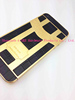 Luxury real leather housing for iphone 5s back cover housing gold plated housing for iphone 5s