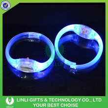 Promotion Popular Festival LED Flashing Holiday Bracelet With Logo For Gifts