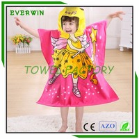 Custom 2016 new design 100% cotton baby hooded towel for kids