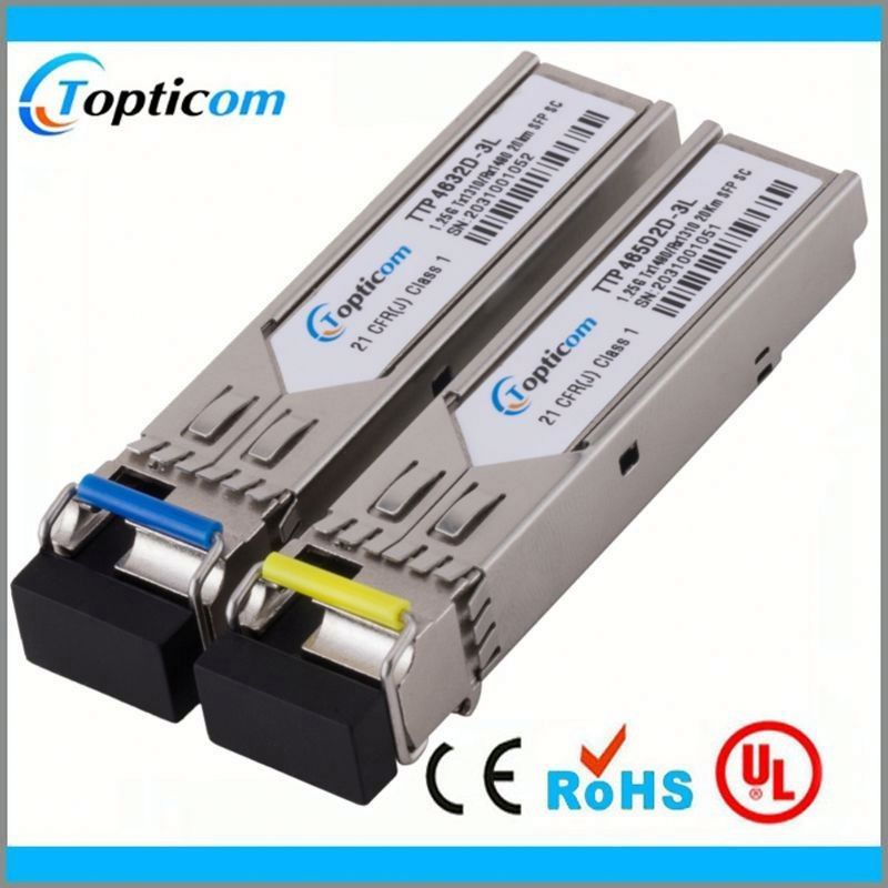 1000base-zr 80km bidi sfp transceiver connector for 8 channels digital video optic transceiver