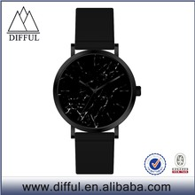 Elegant business trip mens genuine leather watch custom men business minimal wrist watch with good description