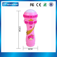 2016 abs plastic led talking microphone toys for kids