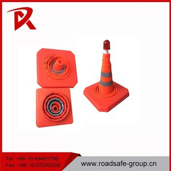 Road safety Adjustable Reflective barrier flexible traffic Cone