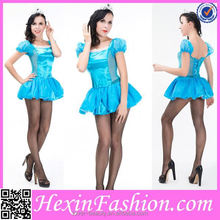 Wholesale And Retail Blue Princess Sexy Party Costume