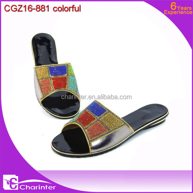 2016 ladies slipper shoes with stones indian ladies shoes size | New lady high heel shoes with matching purse
