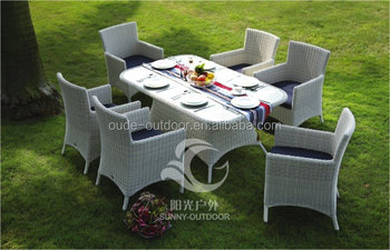 Outdoor rattan garden furniture set