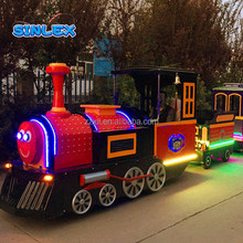 Electric & diesel trackless tourist train manufacturer family train rides