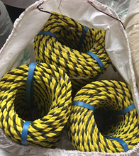 polyethylene 3 strands and twisted type mark tiger rope