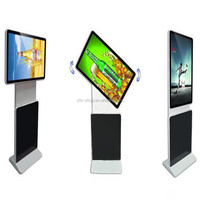 Super top 55 inch touch lcd screen rotate floor stand talet PC kiosk for advertising or information checking