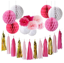 Baby Shower Hanging Tissue Paper Honeycomb Ball Decorations