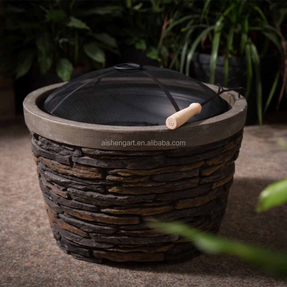 Four seasons Culture Stone Look Outdoor Round Fireplace/Fire pit