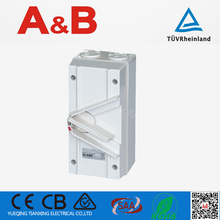 Hot sale ip66 Waterproof 35A Isolator Switch 3 phase,ABIS135 250V waterproof isolator/