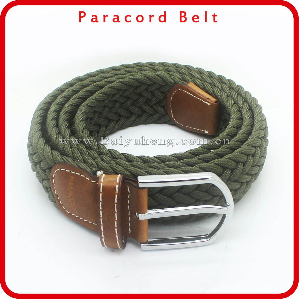 braided men's fashion belt polyester lot wholesale