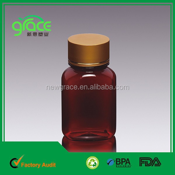 Amber Oval Plastic <strong>Bottle</strong> for Kid Syrup Packing Clear Pet Tablet <strong>Bottle</strong>