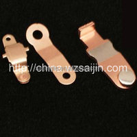 High Precision Small Meter Electric Socket Brass Metal Stamping Parts