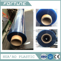 various pvc plastic transparent film with powder anti stick for making bags