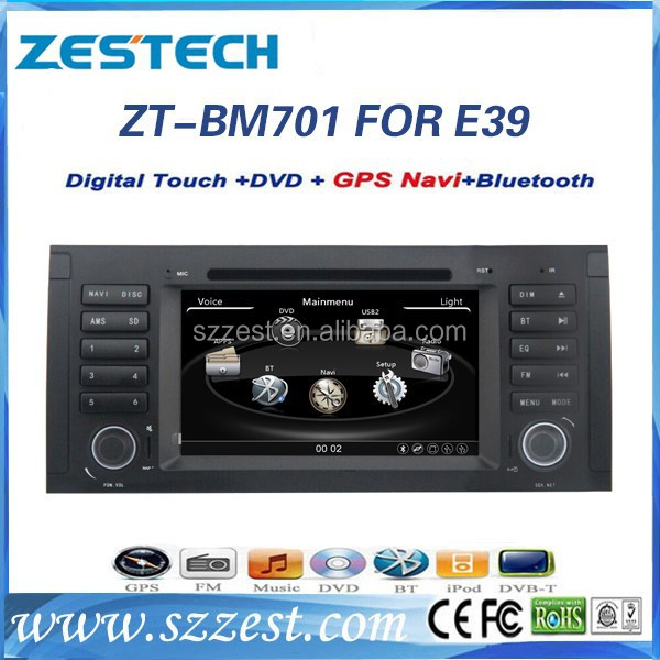 Zestech car dvd player for BMW 5 Series E39 1995-2003 car audio radio with bluetooth gps car audio with bluetooth gps navigation