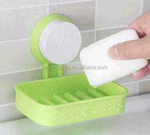 New plastic strong sucker soap box / soap holder / wall suction soap dish for kitchen and bathroom