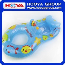 SKY BLUE PUFF TOY /MUMMY AND BABY'S INFLATABLE SWIM RING