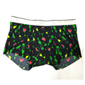94 polyester 6 Elastan Your Brand Open Flap Boxer Shorts with Pocket Wide Elastic Waistband laser cutting seamless underwear