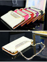 Diamond Chain Wallet handbag Leather Cell Phone Case For Samsung Galaxy S5 i9600 2014 eBay China manufacturer