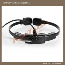 Tactical Dual Throat activated Microphone with clear acoustic earpiece for The Expendables