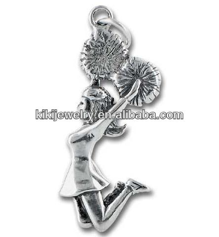 Wholesale Cheerleader Charm And Pendant For Bracelet