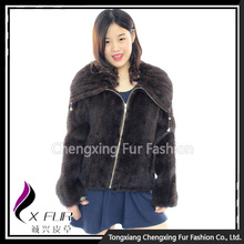CX-G-A-144A Knitted Mink Real Fur Coats For Women