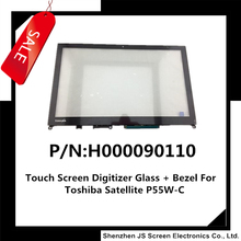 "15.6"" Laptop Touch Digitizer Glass P/N H000090110 For Toshiba Satellite P55W-C5200 With Bezel"