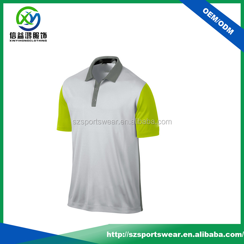 2016 New style high quality bamboo clothing / men golf shirt dri fit