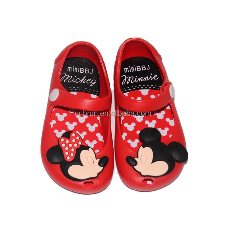 2017 baby girl sandals jelly shoes cartoon sandals lovely baby shoes