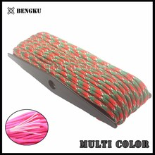 wholesale 550 paracord colored braided 2mm nylon cord