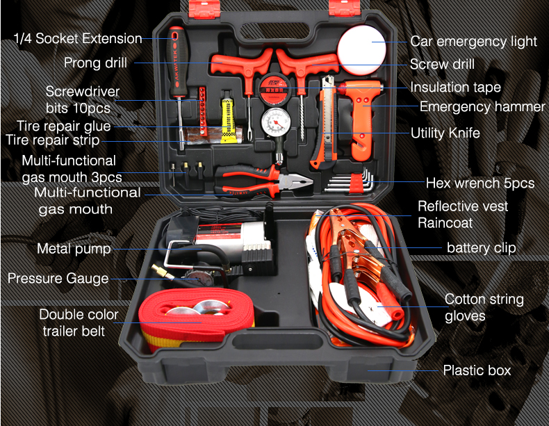 PROFESSIONAL PORTABLE COMBINATION 35PCS HARDWEAR REPAIRING TOOL PACKAGE