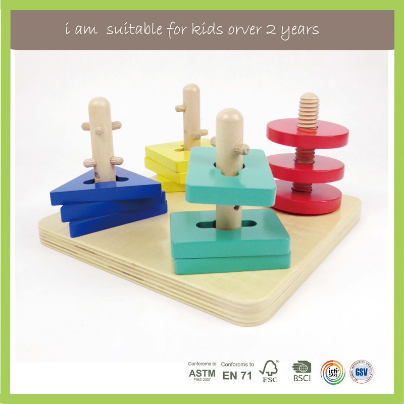EN71/FSC/BSCI/ASTM OEM Available Educational Wooden Toys Hide Seek Shape Sorter