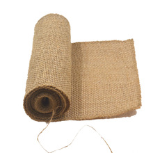 Wholesale 100% Natural Burlap 10 yards Jute Cloth Fabric Roll