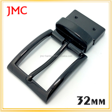 32mm zinc alloy black turning reversible twisting clamp pin buckle