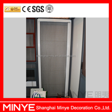 Safe and multifunction aluminum sliding door with screen net