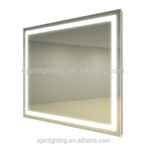 Hot-sale IP44 LED Light Anti fog Hotel Bathroom Lighted Wall Mirror With Touch Sensor