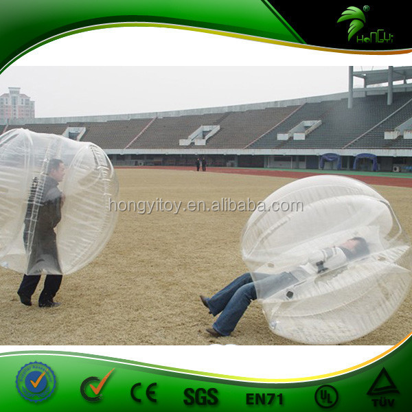 Excellent PVC Inflatable Bumper Ball Body Ball Bodp Bouncy Grass Ball For Sports