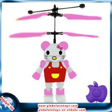 hand induction &apple remote control 3 seconds intelligent suspension flying mini KTcat toy aircraft model for sale GW-TQF