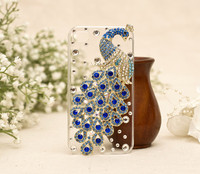 E0015 Amazing Beautiful Top Quality Peacock Shaped With Rhinestone Cell Phone Case