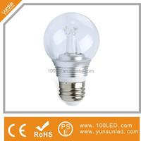 Buy 2w 3w 4w filament candle replace 60w led candelabra bulb e12 ...