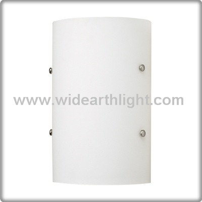 UL CUL Listed 2 Med. Base Bath Hotel Glass Wall Sconces In Nickel Finish W60118